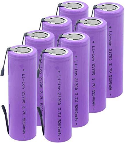 3.7V 5200Mah 21700 Batería De Litio De Alta Descarga 20A Recargable para Linterna Battery-8Pcs