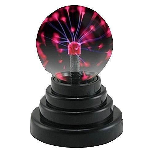 Bola de plasma táctil ciencia sensible lámpara de bola eléctrica energía por...