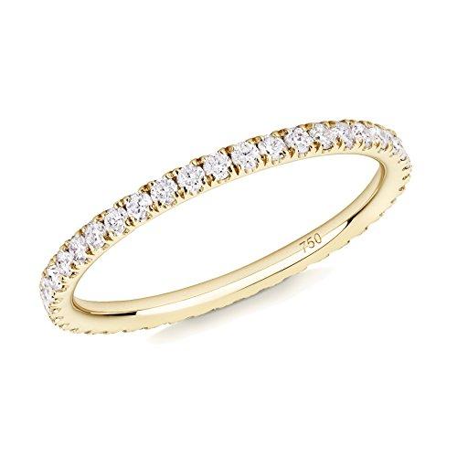 VERIFINE 18k Yellow Gold Diamond Skinny Full Eternity Ring (N)