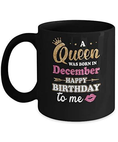 N\A Eine Königin wurde im Dezember Alles Gute zum Geburtstag GIF Kaffeetasse Kaffeetasse geboren