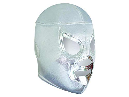 EL SANTO Lucha Libre Wrestling Mask (PRO - Fit) Costume Wear by Make It Count Silver