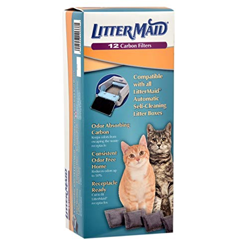 LitterMaid Odor Absorbing Litter Box Carbon Filters, 12 pack(Premium Pack)