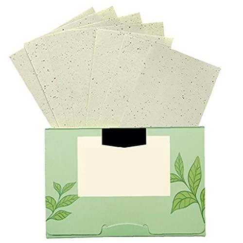 papier absorbant l'huile de thé vert, du papier buvard du visage, les soins de la peau grasse, 100pcs déshuilage