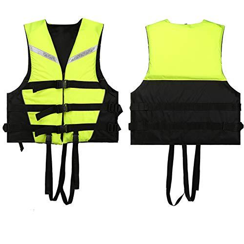FR&RF Chaleco de ayuda ajustable para adultos, para kayak, flotabilidad, pesca, barco, acuático, colorido, a la deriva, unisex, verde, XXXL