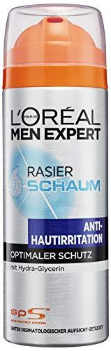L'Oréal Men Expert Rasierschaum Hydra Energy Anti-Hautirritation / Rasier-Schaum Antie-Stoppel-Effekt / Schaum mit pflegender Wirkung (dermatologisch getestet, ohne Alkohol) 1 x 200 ml