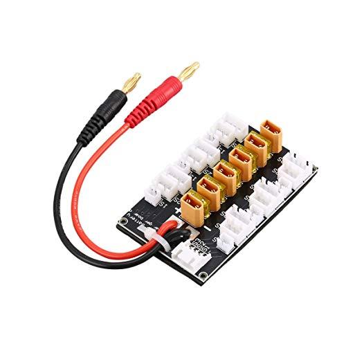 ToGames 6 Packs XT30 1S-3S Lipo Batterie 20A XT30 Stecker für Drone Teilen Laden Ladeboard für RC IMAX B6 Balancen Parallel