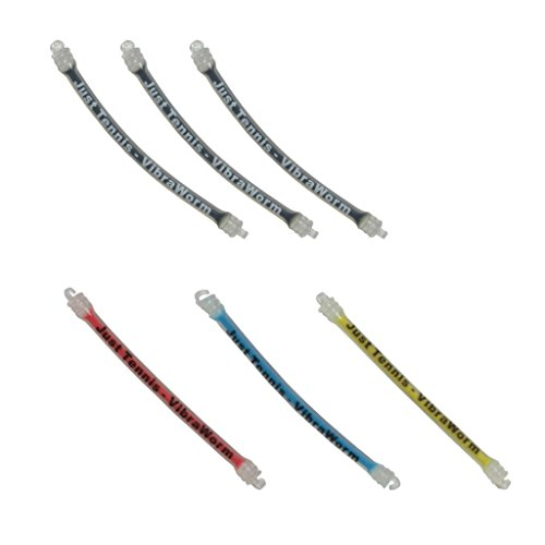Vibra Worm - 6 Pack - Gel Filled Long Tennis Racquet Vibration Dampener - Premium Quality - 2020 Model - Thousands Sold