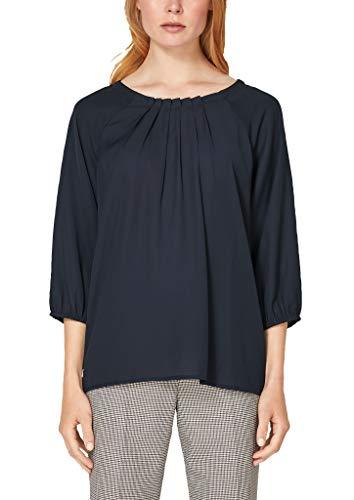 s.Oliver BLACK LABEL Damen 11.908.19.2893 Bluse, Blau (Luxury Blue 5959), (Herstellergröße:38)