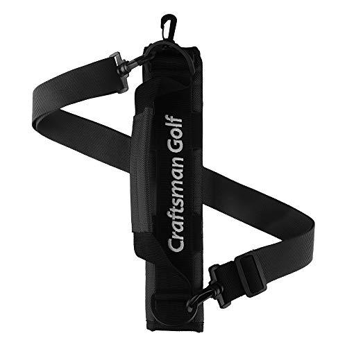 CRAFTSMAN GOLF Tragbare Mini-Tragetasche, Schultertasche, ideal für Golfplatz, Golftasche, Tragegurt, Schwarz