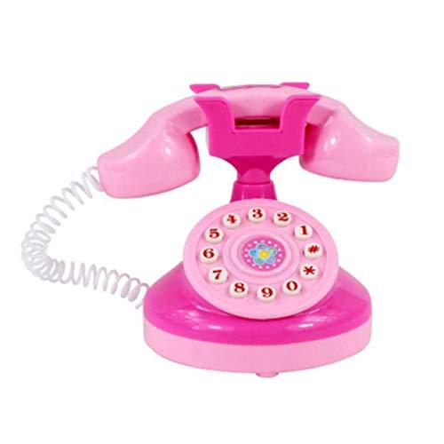 Kid Teléfono Móvil Juguete con Música Ligera Niños Juguetes Teléfono Juguetes Juegos De Imaginación Juguete del Rompecabezas para El Aprendizaje Regalo De Cumpleaños De Educación De Las Niñas (Rosa)