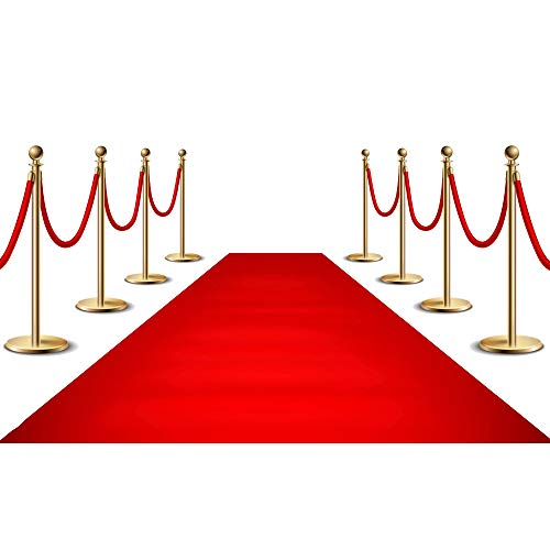 YoungLA Red Carpet Runner for Party, 2x15ft ,70GSM ,Hollywood Red Carpet Roll Out for Special Event, Glamorous Movie Theme Party Decorations, Red Runway Rug for Wedding, Red Aisle Runner for Prom