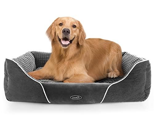Pecute Cama para Perros Básica Cama de Suave Gamuza para Perros y Gatos de Color Gris L(80 * 66cm)