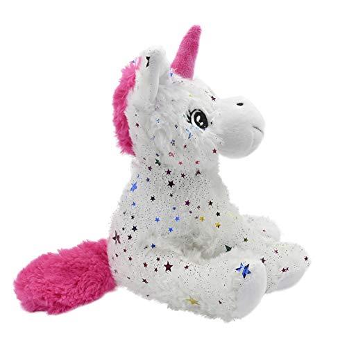 ML Regalo para el Dia de la Madre - Peluche Unicornio Juguetes de Peluche para Bebe Que Brilla en la Oscuridad Destellos de Forma de Estrellas - para niños y niñas - Color Blanco