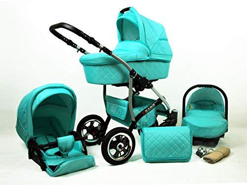Poussette Combinée Trio landau 2en1 3en1 Isofix siège Auto Q-Step by SaintBaby Mint 2en1 sans siège bébé