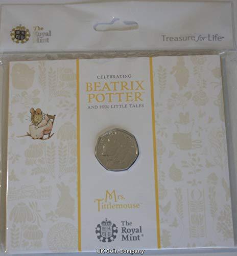 2018 Mrs Tittlemouse Brilliant Uncirculated 50p Coin Pack Beatrix Potter Series
