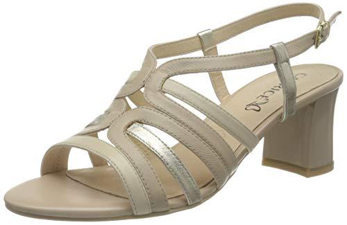 Caprice Damen 9-9-28301-26 Sandale mit Absatz, BEIGE Comb, 40 EU