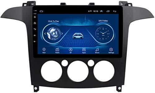 BUSUANZI Sistema de navegación GPS, con WiFi Sat Radio Auto Player Bluetooth USB Coche Estéreo Android Double DIN - para Ford Fiesta 2009-2017 Pantalla de 9 Pulgadas,Model1,4G WiFi 2G+32G