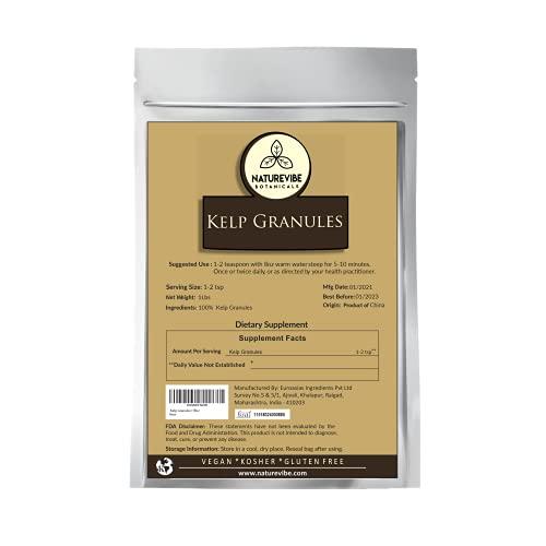 Naturevibe Botanicals Kelp Granules, 1lb | Laminariales | Good Source of Minerals | Salad Dressing | Adds Flavor and Nutrients | (16 ounces)