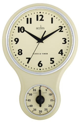Acctim 21592 Kitchen Time Wanduhr, Cremefarben