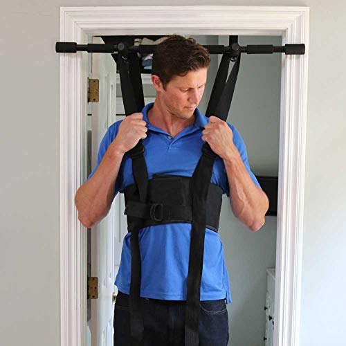 Sit and Decompress Back Stretcher Spinal Decompression Back Traction Upright Inversion Table Made in USA Chiropractor Designed (Medium Harness No Bar)