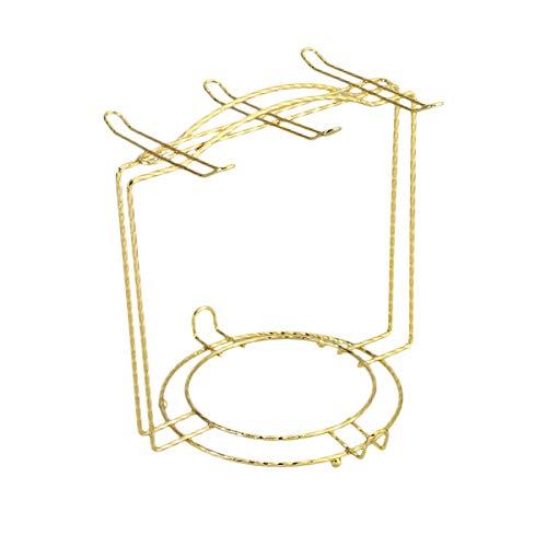 BESTonZON Albero Porta Tazze Porta tazzine da caffè e piattini per 4 o 6 tazzine in Acciaio Inox (Oro)