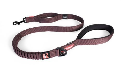 ezydog Zero Shock Dog Leash, 121,9 cm), color marrón by ezydog, LLC
