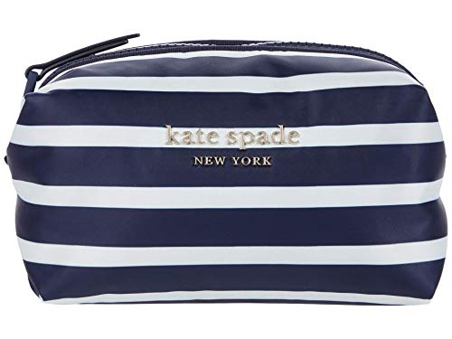 Kate Spade New York Everything Puffy Stripes Cosmetics Medium Cosmetic Squid Ink Multi One Size