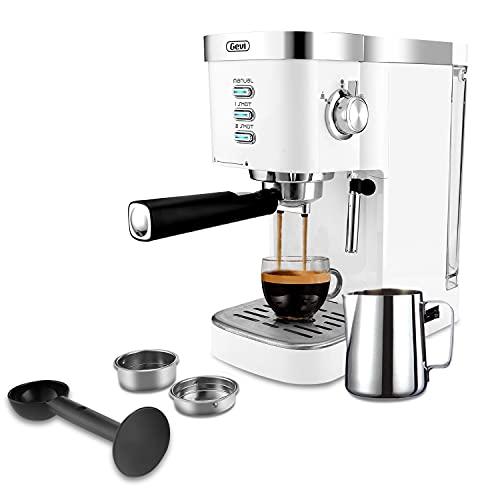 Gevi Espresso Machines 20 Bar Fast Heating Automatic Cappuccino Coffee Maker with Foaming Milk Frother Wand for Espresso, Latte Macchiato, 1.2L Removable Water Tank, 1350W, White2
