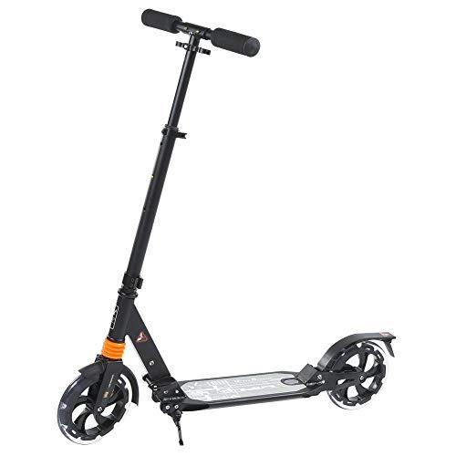 DSJSP Scooter eléctrico, Scooter de suspensión Plegable, características: Agarre Suave, Esponja y Manillar Plegable, sensación cómoda de la Mano