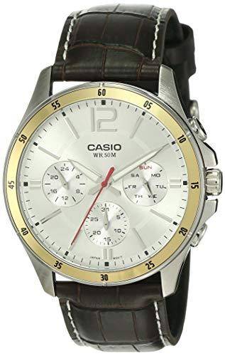 Casio Enticer Chronograph White Dial Men