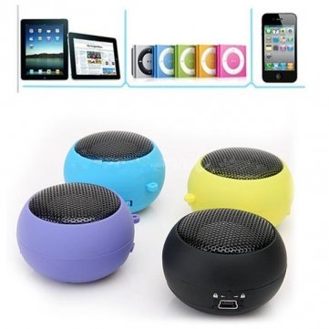 Qualität Mini- Hamburger -Lautsprecher für iPhone iPod MP3 MP4 Laptop - Yellow