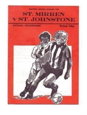 St Mirren v St Johnstone 11/12/1976 old football programme