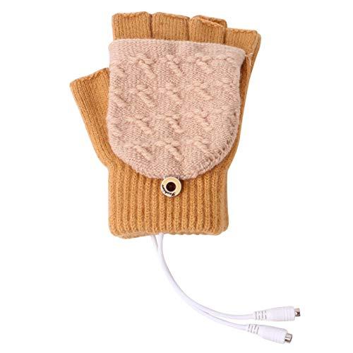 ller76 Women Men USB Heated Gloves Portable Winter Hands Warm...