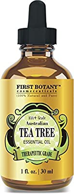 100% Pure Australian Tea Tree Essential Oil with high conc. of Terpinen - A Known Solution to Help in Fighting Acne, Toenail Issues, Dandruff, Yeast Infections, Cold Sores. (1 fl oz)