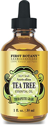 100% Pure Australian Tea Tree Essential Oil with high conc. of Terpinen - A Known Solution to Help in Fighting Acne, Toenail Fungus, Dandruff, Yeast Infections, Cold Sores. (1 fl oz)