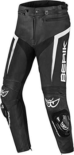 Berik Misle Motorrad Lederhose 58 Schwarz/Weiß