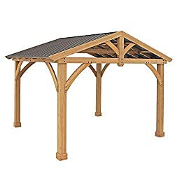 This is a wooden pavilion