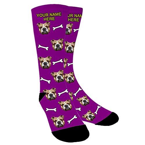 Aolun Foto Sokken Gepersonaliseerde Grappige Sokken Met foto, Aangepaste Gezicht Sokken, Zet Hond, Kat, Andere Huisdieren Gezicht Foto in Sokken