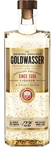 ORIGINAL DANZIGER Goldwasser, Kräuterlikör 40% vol., Likör mit 22-karätigem Gold, der wahrscheinlich älteste Liqueur der Welt - seit 1606 (1 x 0.7 l)