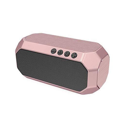 JUNPE Altavoz Bluetooth Producto al Aire Libre Impermeable Tarjeta portátil Portátil Subwoofer portátil Bluetooth Altavoz (Color : Pink)