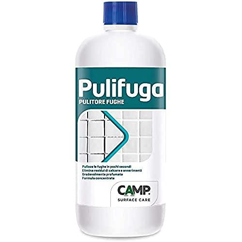 Camp PULIFUGA, Pulitore concentrato per fughe ideale per pavimenti e rivestimenti, Elimina annerimenti, macchie e muffe, 1 L