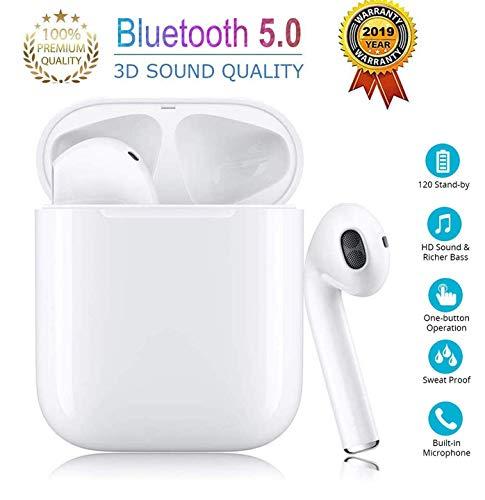 Preisvergleich Produktbild Bluetooth-Kopfhörer,  Bluetooth 5.0,  kabellose Ohrhörer,  Geräuschunterdrückung,  IPX5,  wasserdichtes Sport-Headset,  mit Mini-Ladehülle,  integriertes Mikrofon,  für Android / iPhone Apple Airpods Pro