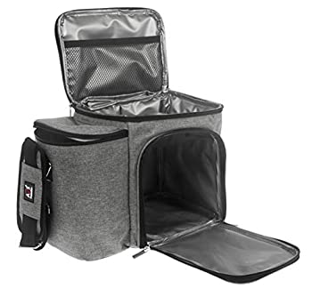 A2S Meal Prep Lunch Box - Cooler Bag - Meal Bag - Keep your Daily Food Snacks & Beverages Cool and Intact  Gray Bag Only