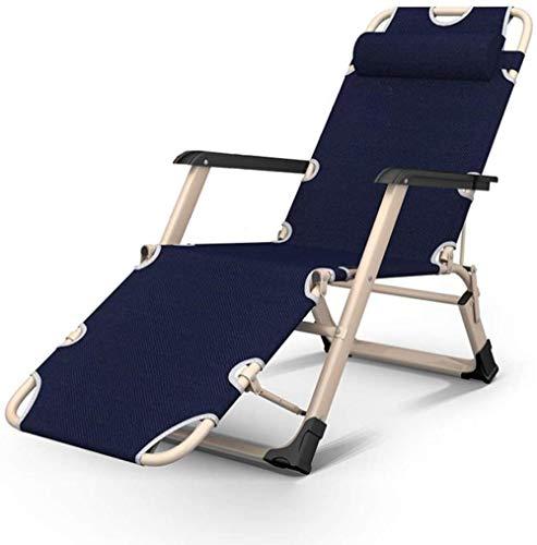 YYZZ Tumbona Plegable al Aire Libre Tumbona de Playa Tumbona portátil de Viaje Silla Plegable Silla de Camping Patio Silla de jardín Mujer Embarazada Sillas reclinables C-UNA