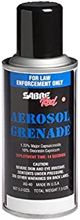 Sabre Red 1.33% MC 5.0 oz Fog Delivery Aerosol Grenade (MK-5), AG-40