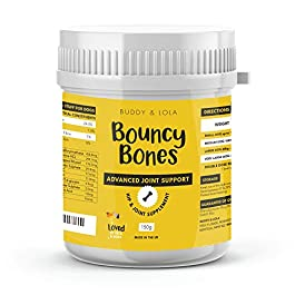 Bouncy Bones Complete Joint Supplements For Dogs – Ten Key Dog Vitamins And Supplements Including Glucosamine For Improved Mobility, Pain Relief & Joint Support (Up to 175, 1 scoop servings)