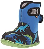 BOGS Baby Waterproof Insulated Snow Boot, Dino-Electric Blue Multi, 4
