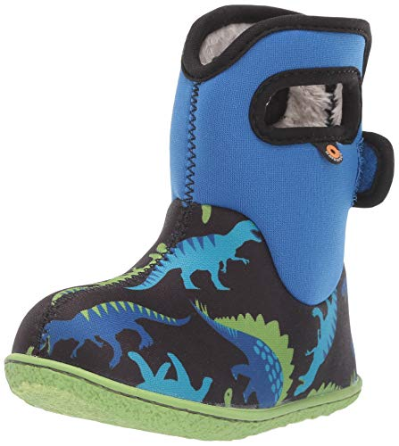 BOGS Boys Baby Dino ELEC Blue Multi Insulated Washable WARM Wellies Boots 721651-6 UK 23 EU
