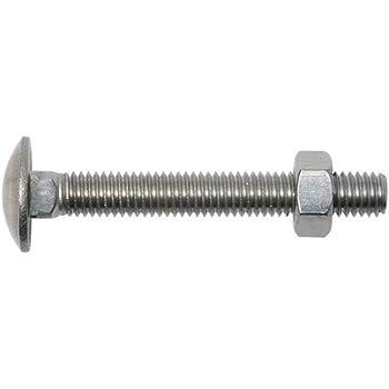 DIN 603, ISO 8677, rosca completa, acero inoxidable A2 Tornillos de cabeza redonda plana con cabeza cuadrada Eisenwaren2000 M8