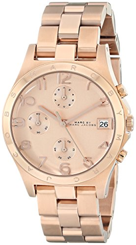 Big Sale Marc by Marc Jacobs Women's MBM3074 Henry Classic Chronograph Rose Gold Watch